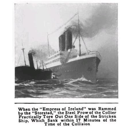 Sinking Of The Empress Of Ireland 1914 Onetuberadio Com