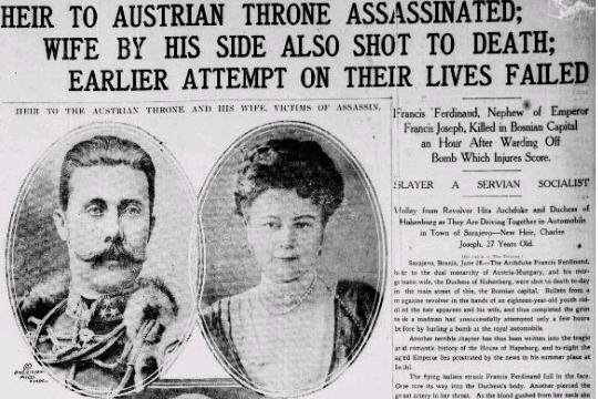 a report on the murder of franz ferdinand and the european war A- european nations brought their  had nothing to do with the murder of franz ferdinand  of world war 2 into their continents from europe.