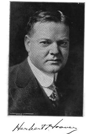 Herbert Hoover in about 1920.  Google Books.