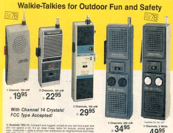 1978 Radio Shack CB Walkie-Talkies.