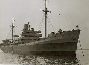 The ship in 1943, now the USS Saturn.  Wikipedia photo.