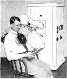 1930's era diathermy machine (Wikipedia photo).