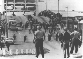 """Bloody Sunday"" in Selma, AL, March 7, 1965. Wikipedia photo."