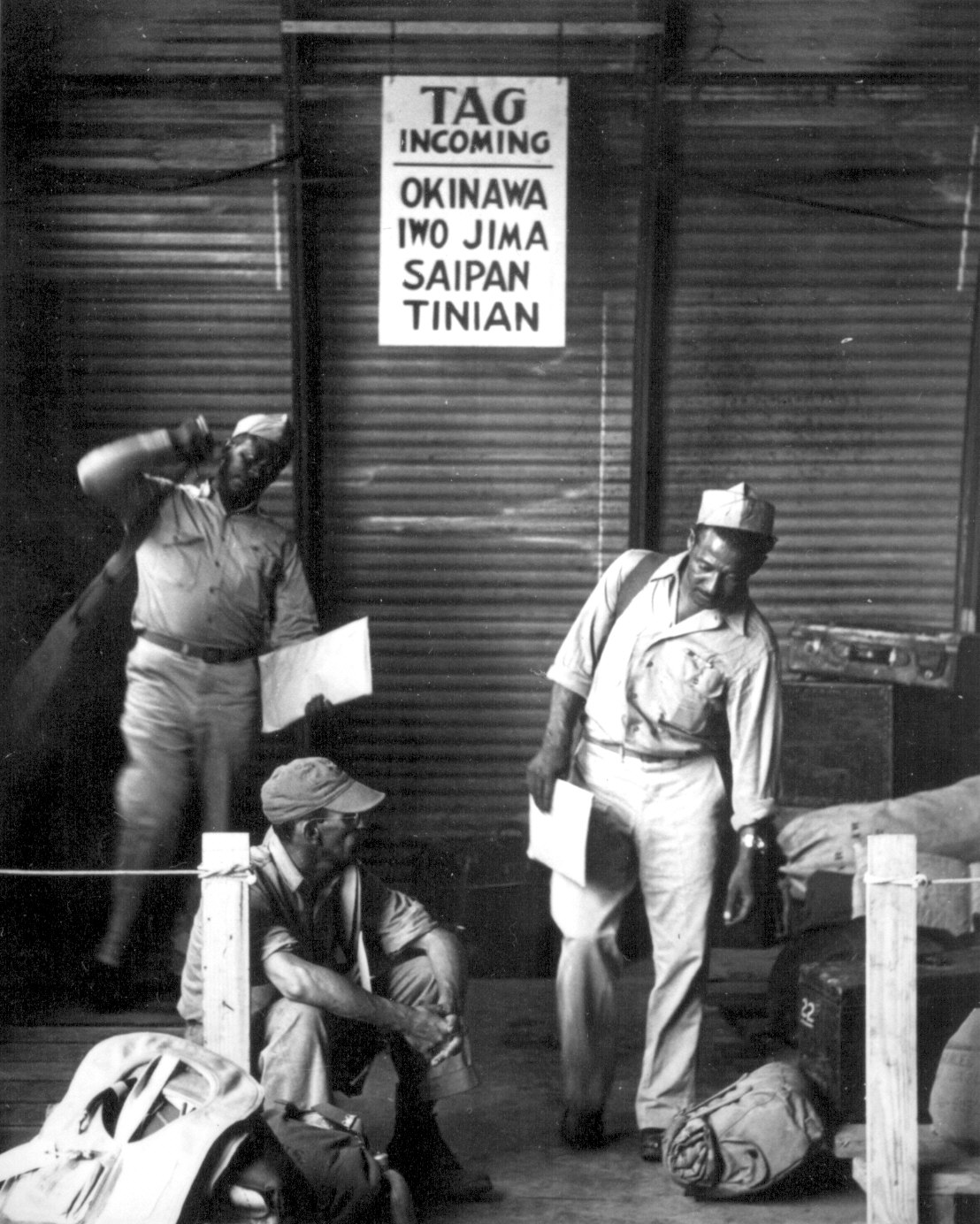 African-American soldiers preparing to fight the Japanese. US Gov't photo.