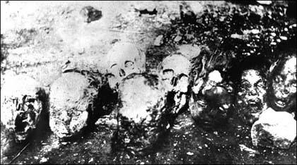 Skulls of Armenian deportees, Syria.