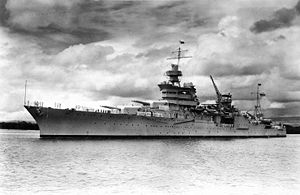 USS Indianapolis in 1937. Wikipedia photo.