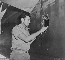 Louis Zamperini in 1943. Wikipedia photo.