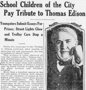 Harrisburg Telegraph, Oct. 21, 1914.