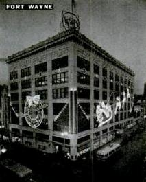 1940 electrified Santa on the world's second largest sign.