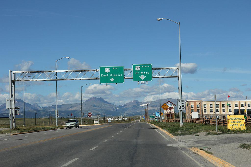 Modern day Browning, Montana. Wikipedia photo.