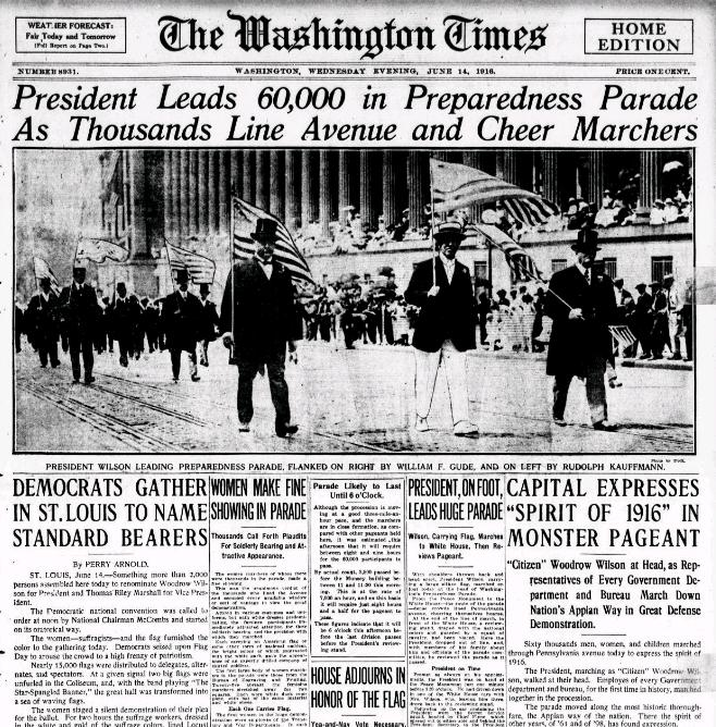 Washington Times, June 14, 1916.