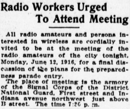 Washington Times, June 12, 1916.