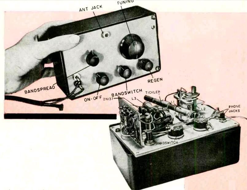 1956 Two Transistor Shortwave Regen | OneTubeRadio com
