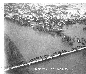 Hazelton, Indiana, January 23, 1937. National Weather Service photo.