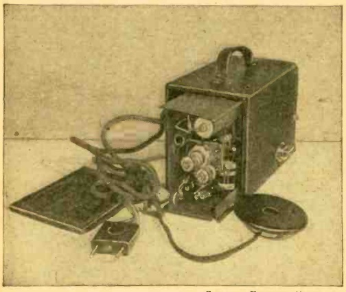 Radio concealed in camera, constructed by of , Holland.