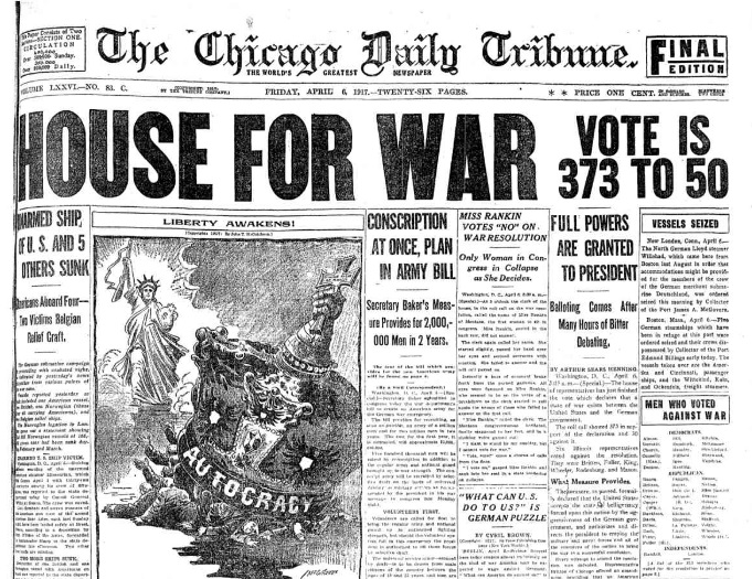 Chicago Tribune, April 6, 1917.