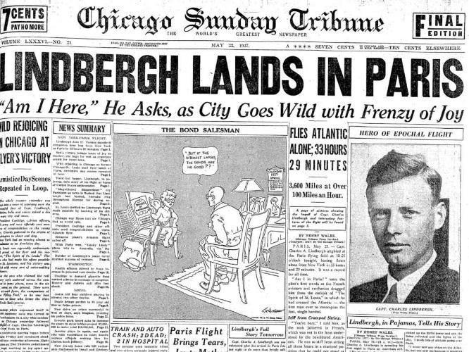 Chicago Tribune, May 22, 1927.