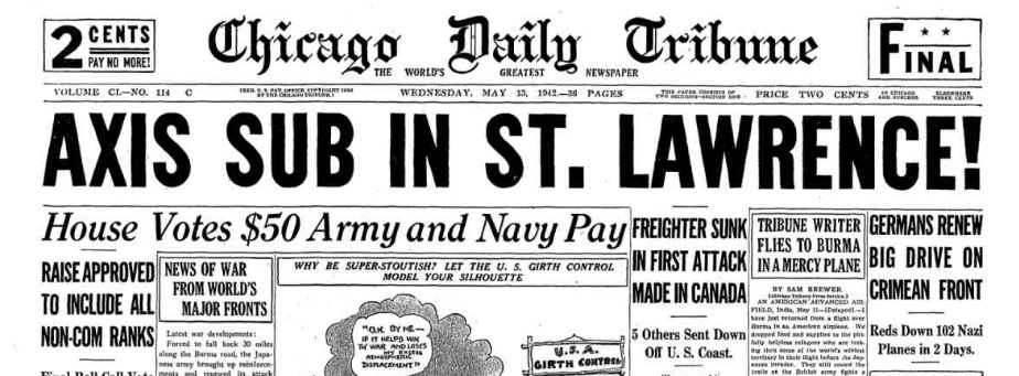 Chicago Tribune, May 13, 1942.