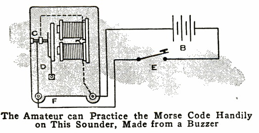 1917SeptPM buzzer converted to telegraph sounder onetuberadio com