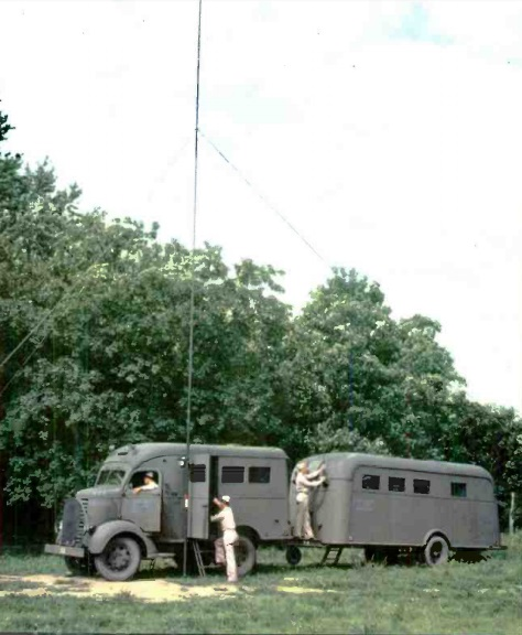 Signal Corps mobile radio unit.