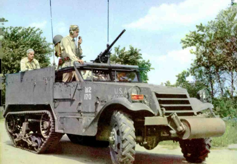 Radio-equipped halftrack.