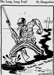 This cartoon marking the 1st anniversary of Pearl Harbor appeared 75 years ago today in the Pittsburgh _____, Dec. 7, 1942.