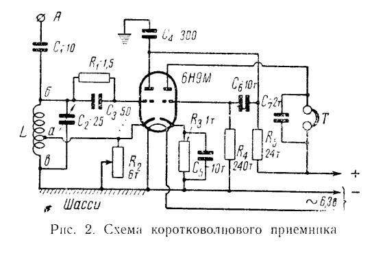 1950 soviet  u201csimplest shortwave receiver u201d