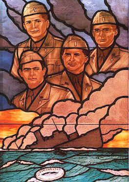 Stained glass window, Pentagon. Wikipedia image.