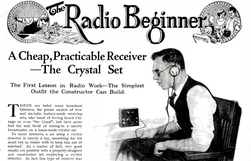 beginner crystal radio